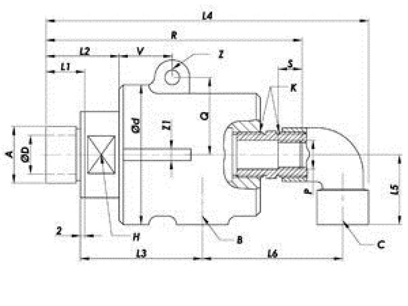 Однопоточные ротационные соединения OP-M (паровые головки)